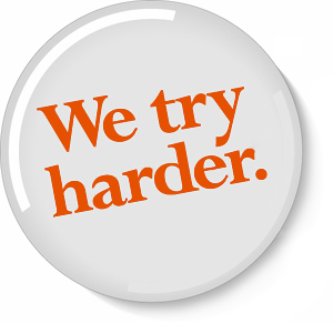 We try harder logo