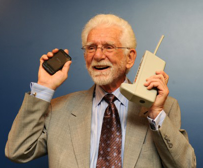 Martin Cooper speaking on phone