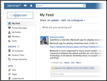 Yammer User Interface