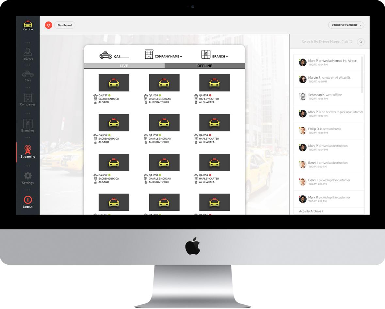 Taxi fleet management app